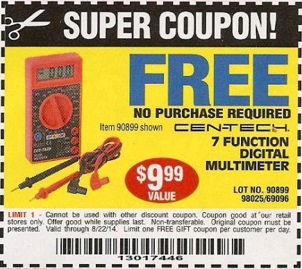 Free multimeter harbor freight coupon 2018