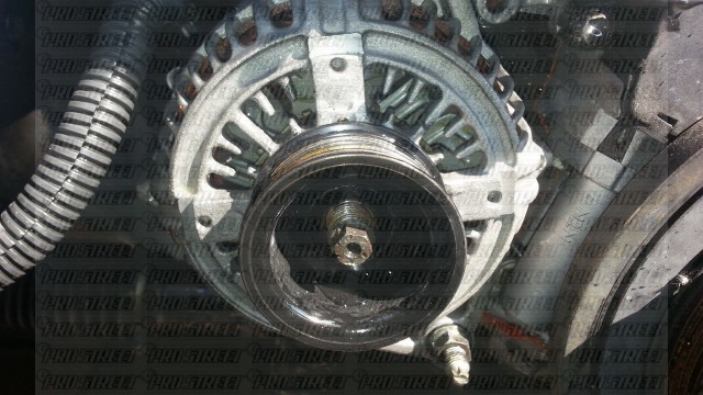 Your 2JZ Alternator with nut removed.
