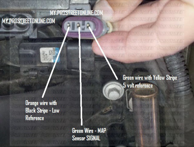 dtc p0107 how to test your ls1 map sensor rh my prostreetonline com 3 Wire Sensor Wiring 3 Wire Sensor Wiring