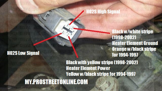 2001 honda civic oxygen sensor wiring diagram: how to convert seven to four wire  02