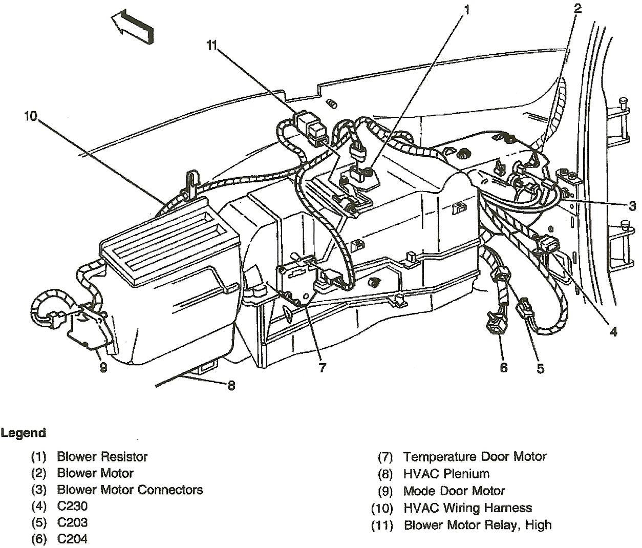 Gmc sierra air conditioning diagram auto electrical for 1994 chevy silverado blower motor resistor location