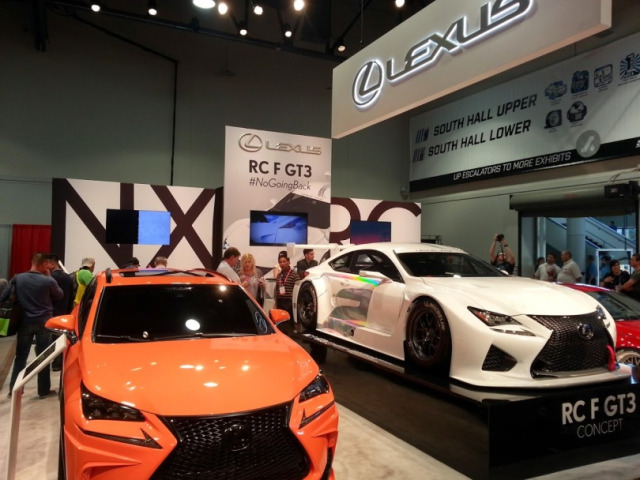 Don't rub your eyes, this is the Lexus booth from the 2014 SEMA Show.