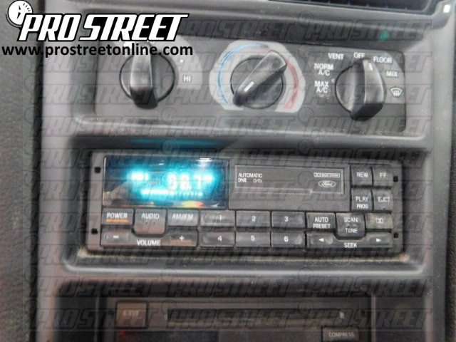 1994 Ford Mustang Stereo Wiring Diagram how to ford mustang stereo wiring diagram my pro street 1991 mustang radio wiring diagram at gsmx.co