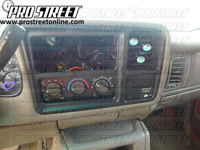 how to chevy silverado stereo wiring diagram rh my prostreetonline com Sony Car Stereo Wiring Adapter Pioneer Car Stereo Wiring Adapters Kia Rio