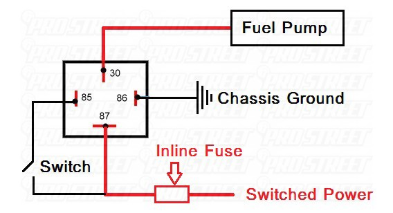 how to fuel pump kill switch install my pro street rh my prostreetonline com Relay Schematic Wiring Diagram 12 Volt Relay Wiring Diagrams