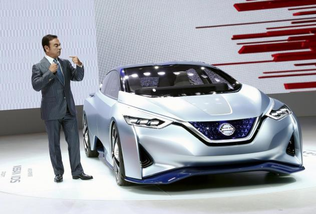 File photo of Carlos Ghosn, CEO of the Renault-Nissan Alliance, presenting Nissan IDS concept car at the 44th Tokyo Motor Show in Tokyo